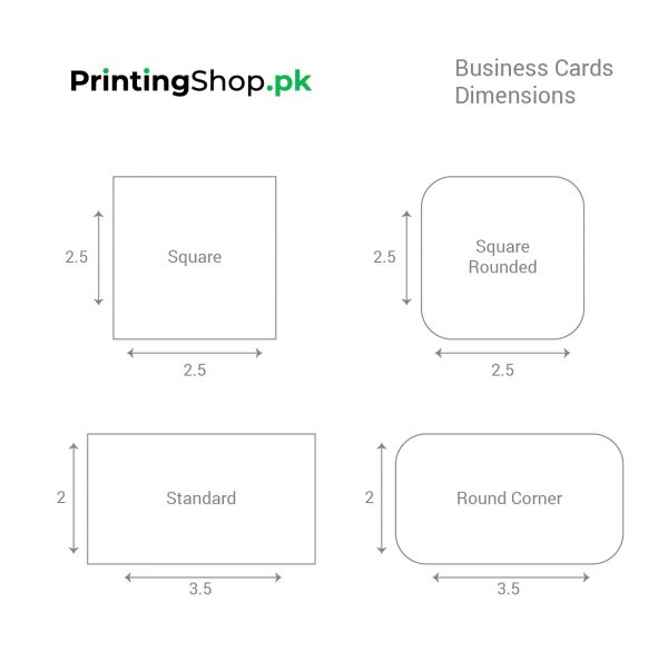 Business Cards Dimensions
