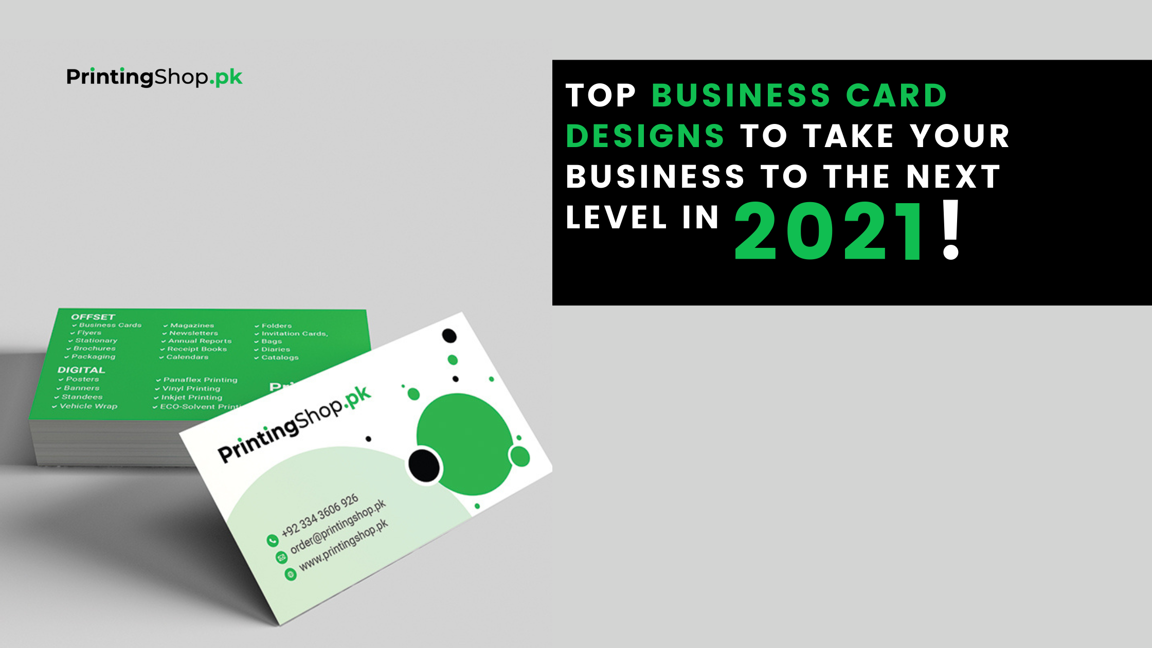 Top Business Card Designs to Take Your Business to The Next Level In 2021!